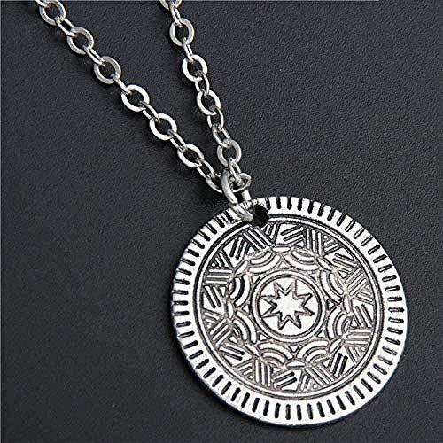Mxdztu Co.,ltd Necklace 1Pc Antique Silver Flower Round Floating Locket Pendant Necklace Religions Jewelry Gift
