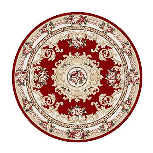 O&YQ Home Dekorative Teppichunterlage Runder Teppich Mat Yoga Matte Kinderzimmer Teppiche Matte Folk Style Matte Retro Muster Teppich Weichen Rutschfesten Wohnzimmer Schlafzimmer Teppich# 4, 180cm
