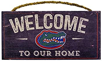NCAA Florida Gators 12  x 6  Distressed Welcome to Our Home Wood Sign