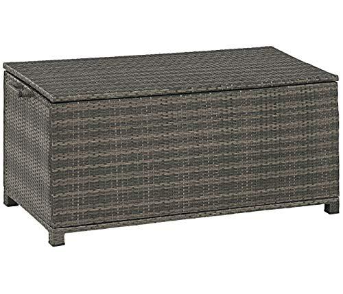Dehner Aufbewahrungsbox Tessin, ca. 130 x 60 x 60 cm, Polyrattan/Aluminium, braun