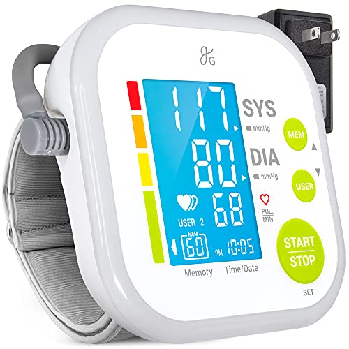 Greater Goods Blood Pressure Monitor Cuff Kit by Balance, Digital BP Meter with Large Display, Upper Arm Cuff, Set Also Comes with Tubing and Device Bag