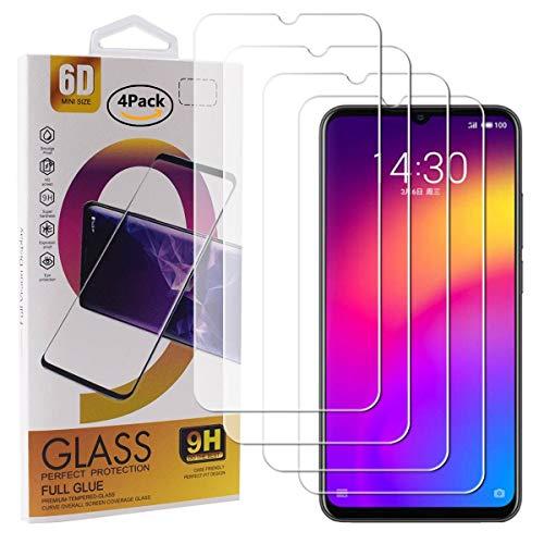 Guran 4 Paquete Cristal Templado Protector de Pantalla para Meizu Note 9 Smartphone 9H Dureza Anti-Ara?azos Alta Definicion Transparente Película
