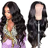 Azibo Body Wave Lace Front Wigs Human Hair Pre Plucked With Baby Hair 150% Density 4x4 Brazilian Lace Closure Wigs for Black Women Human Hair Glueless (20 inch, Natural Color)