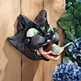 "XoticBrands 9"" Classic Feline Sculpture Bird House Feeder"