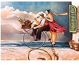 Puzzle regalo Puzzle 1000 Piezas Pareja Bicicleta Comida Adulto Niños Juguetes educativos Decoración navideña