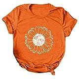 WOBANG Kasacks - Maglietta da donna colorata con motivo di San Patrizio e giorno di San Patrizio, a maniche corte, con scollo a V, per il lavoro, per infermieri Colore: arancione. XL