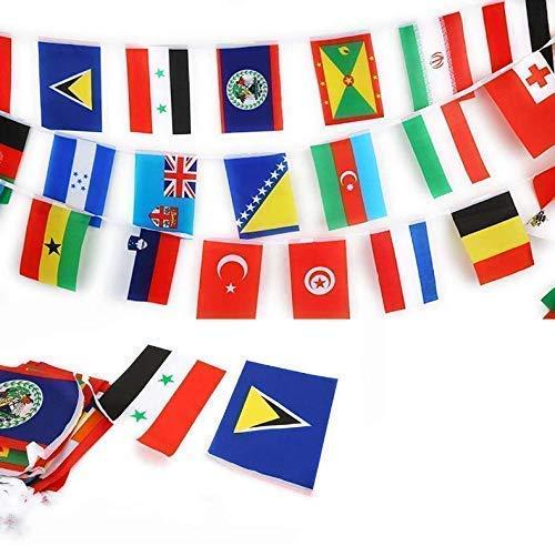Gwill 82 Fuß 8,2 '' x 5,5 '' International String Flags Banner 100 Länder Flaggen Flaggen der Welt Wimpel Banner für Olympia Grand Opening Sports Bars Clubs Party-Events Dekorationen