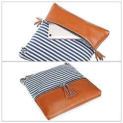 Newshows Women Lightweight Medium Canvas PU Leather Crossbody Bag with Tassel
