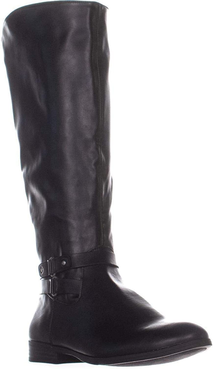 Style & Co. Sc35 Kindell Wide Calf Riding Boots, Black
