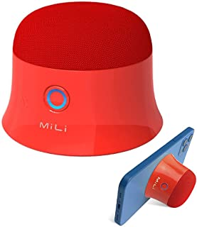 Mini Magnetisch Bluetooth Lautsprecher, Kleine Musikbox, Kabelloser Wasserdichter Bluetooth Lautsprecher, Mini Mag-Safe Lautsprecher mit Intensive Bass Lautsprecher (rot)