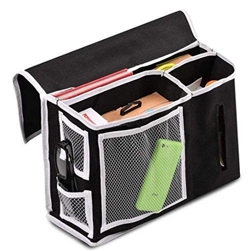 hunpta bolsillo lateral de cama almacenamiento colchón libro TV remoto Caddy Organizador Magazine