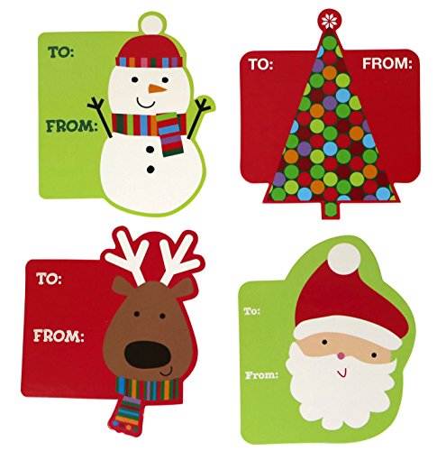 Garvin Peel and Stick Cardstock Christmas - Holiday Gift Tags - 72-Count