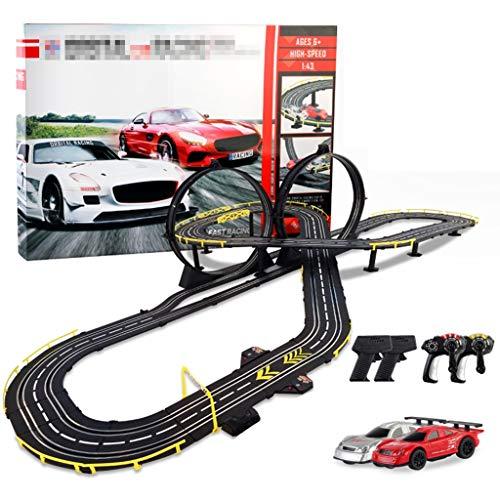 ZKW-Track 1:43 Escala Orbit Modelo Coche de Ranura de Carreras de Coches Educativo R/C de Alta Velocidad de Control Remoto Car Track Set 7.6M Empalme la unión de Bloques de Pista for los Regalos de