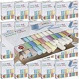 Trendyshop365 Straßen-Malkreide für Kinder ab 2 Jahre 24-teilig Bunte Kinderkreide in 7 Farben...