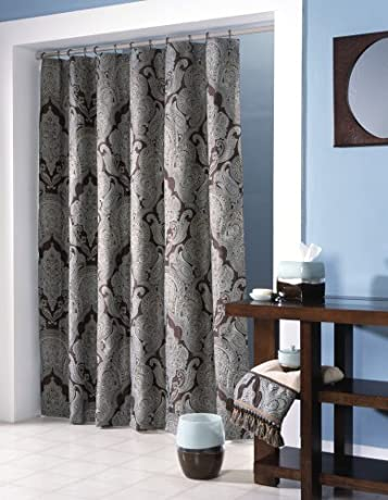 Croscill Royalton Brown & Champagne Luxurious damask Shower Curtain