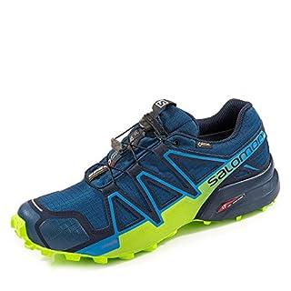 SALOMON Men's Speedcross 4 GTX Trail Running Shoes Waterproof, Blau Poseidon Navy Blazer Lime Green Poseidon Navy Blazer Lime Green, 10.5 UK (B078SYT1NM) | Amazon price tracker / tracking, Amazon price history charts, Amazon price watches, Amazon price drop alerts