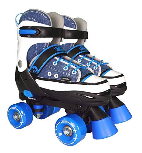 Best Sporting Rollschuhe für Kinder ab 5 Jahren, Größe verstellbar, ABEC 7 Carbon, Farbe: blau/weiß, Größe: 28-31