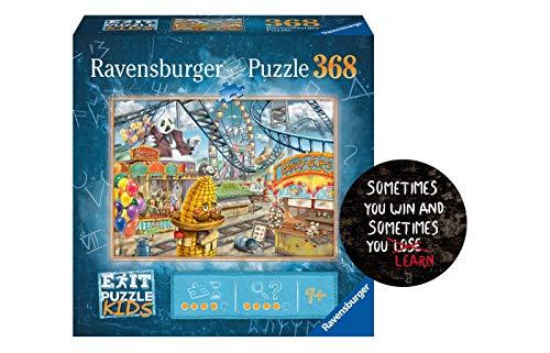 Collectix Ravensburger EXIT Puzzle Kids 12926 - Im Freizeitpark - 368 Teile für Kinder ab 9 Jahren + Sometimes You Win - Exit-Sticker by