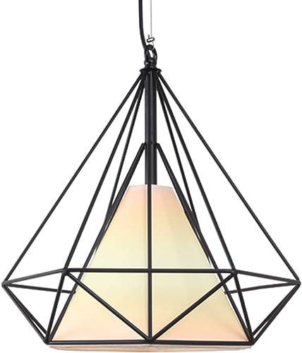DUOMING Luminaire de plafond Luminaire noir Diamond pendentif lumière -Applicable Restaurant, Bedroom De la personnalité (taille   25cm)