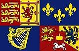 magFlags Bandera Large Royal Standard of The United Kingdom 1714?1801 | Royal Standard of The House of Hanover 1714-1814 | Bandera Paisaje | 1.35m² | 90x150cm