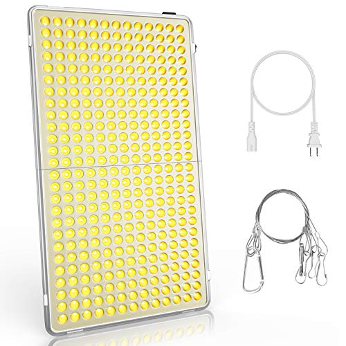 LED Grow Lights for Indoor Plants Reflector Full Spectrum 300W Growing Lamps for Seedlings Greenhouse Succulent Veg and Flower with 338 Sunlike LEDs, 22inch Large, Plant Panel Light by Bozily