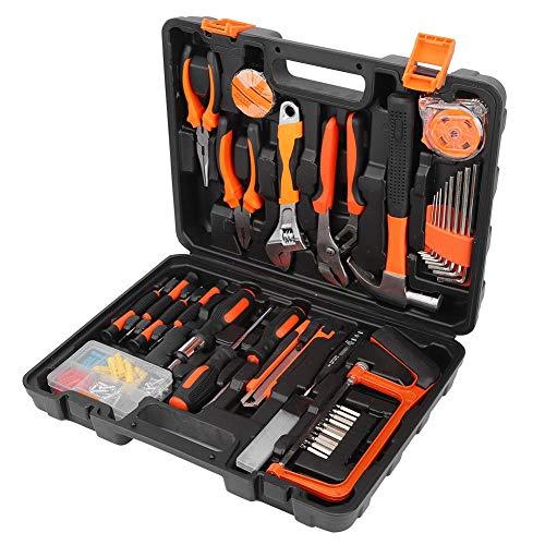 Kit de herramientas para el hogar, con llave de caja de almacenamiento Brocas de tornillo Kit de herramientas para tornillos, kit de herramientas de mano Hogar de plástico para taller de