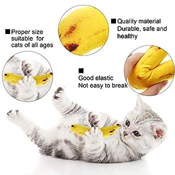 Gejoy 2 Paquets de Jouets Catnip Chat Jouet à l'herbe à Chat pour Jouet de Chat Meulage des Dents Jouets à Mâcher (Banane)