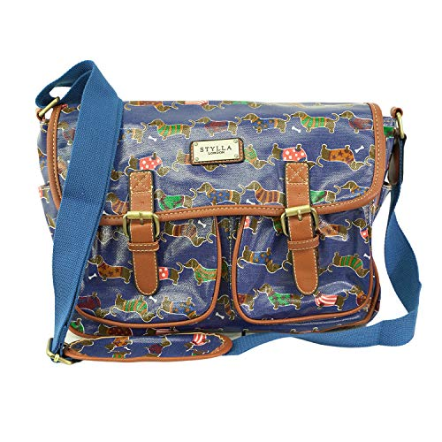 T & S , Damen Tornistertasche , Mehrfarbig - Sausage Navy - Größe: Medium