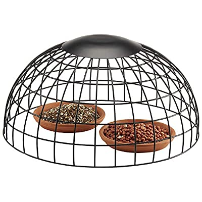 Happy Beaks Squirrel Proof Wild Bird Ground Feeding Guard for Seeds, Nuts and Mix from Happy Beaks