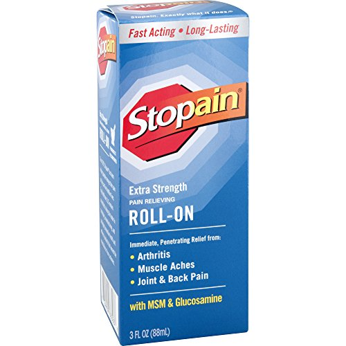 Stopain Extra Strength Pain Relief Roll-On 3 Ounce Relief for Muscle & Joint Pain