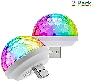 YOJOHUA USB Mini Stage DJ Light Disco Ball Lamp Home Pajama Party Strobe Light Disco LED Bulb for Kid's Birthday Parties DJ Lighting Christmas Decorations