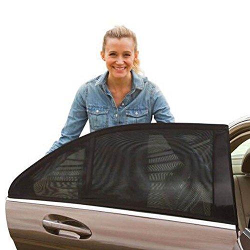 ZREAL 2 stuks auto achterruit anti-UV parasol zonneschijn blokker protector afdekking stoel schaduw mesh blind
