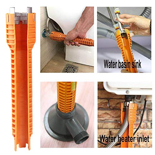 Basin Wrench Sink Faucet Wrench, Plumbing Under Sink Wrench, Multi-purpose Faucet Tool for Toilet Bowl/Sink/Bathroom/Kitchen