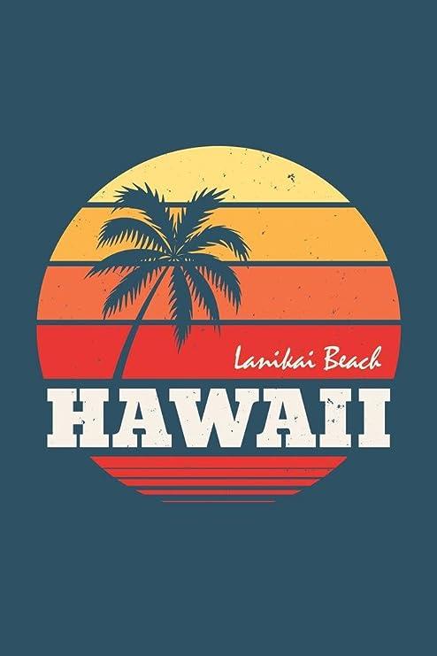 Hawaii Lanikai Palm Tree Canvas Wall Art Print Hawaii Home Decor Oahu