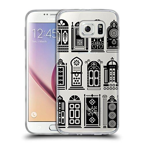 Head Case Designs Oficial Cat Coquillette Puertas Negras Edificios Carcasa de Gel de Silicona Compatible con Samsung Galaxy S6