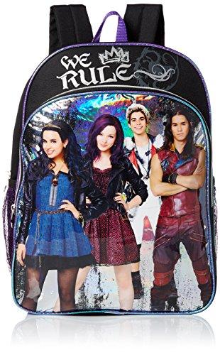 Disney Little Girls Descendants We Rule 16 Inch Backpack, Black, One Size