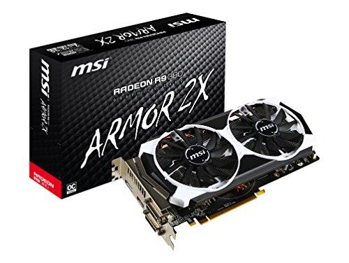 MSI (R9 380 2GD5T OC) AMD Radeon R9 380, PCI Express x16 3.0, 2GB GDDR5, 256 bits, 1 x DVI-I, 1 x DVI-D, 1 x DisplayPort, 1 x HDMI