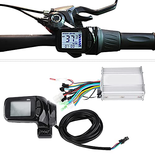 Weikeya mi-Bicicleta Controlador, Sencillo Scooter Sin escobillas Motor Voltaje Nivel El plastico y LCD y Metal Polo Proporción por Bicicleta Bicicleta Triciclo Scooter