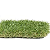 PZG Premium Artificial Grass Patch w/ Drainage Holes & Rubber Backing | 4-Tone Realistic Synthetic...