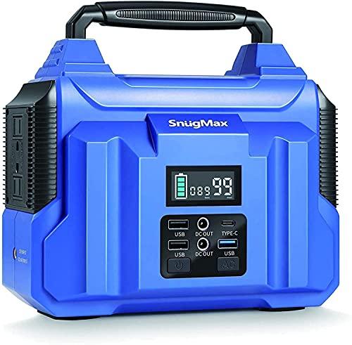 LEICKE SnugMax generatore di corrente portatile, power station con batteria al litio di backup da 240 V, 200 W, accumulatore di energia per emergenza da viaggio in campeggio all'aperto per interni