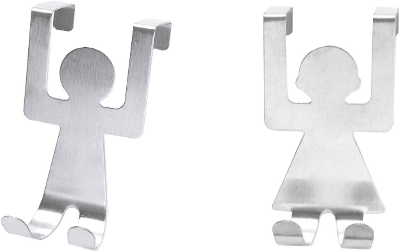 OFFicial liuliuzuQQ 2PC Over The Door Metal Single Hooks Doo Max 52% OFF Sturdy