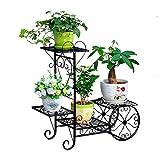 XYJNN Maceteros-macetas Balcon El Soporte del Carro del Jardín del Soporte De Exhibición del Soporte De La Planta De La Maceta Terraza del Jardín De Su Casa (Color : Black)