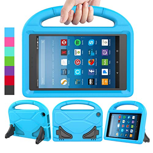 LEDNICEKER Kids Case for Fire HD 8 2018/2017/2016 - ShockProof Handle Friendly Convertible Stand Kids Case for Fire HD 8 inch Tablet (7th & 8th Generation Tablet, 2016 & 2017 & 2018 Release) - Blue