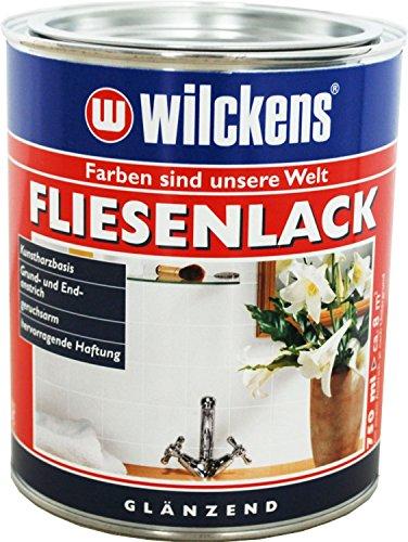Fliesenlack glänzend (Fliesenlack weiss 750 ml) inkl. Pinsel zum Auftragen