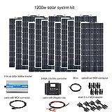 XINPUGUANG 1200w kit solar aislado 12x 100W 18v panel solar flexible pv módulo...