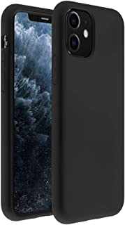 ZUSLAB Nano Silicone Case Compatible with Apple iPhone 11 Shockproof Gel Rubber Bumper Protective Cover - Black