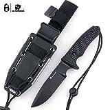 HX OUTDOORS Premium Qualität Companion Messer,Camping Überlebensmesser Werkzeuge,Ergonomischer G10 Anti-Rutsch-Griff, Premium-Geschenk...