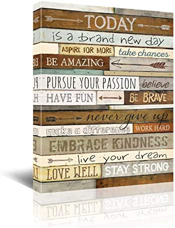 Inspirational Wall Art for Office Quotes Theme Wall Decor for Women Motivational Canvas Prints product image