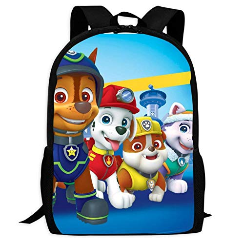 Pat-rol Paw 2 Backpacks Laptop Bag 3D Printing Kids' School Casual Shoulder Bookbags Daybag for Boys Girls