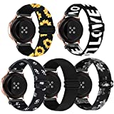 Compatible for Samsung Galaxy Watch Active 2 Bands 40mm 44mm/Galaxy Watch Active Band 40mm Women Men 20mm Elastic Stretchy Loop Nylon Band for Samsung Galaxy Active 2 Watch Band/Galaxy Watch 42mm Band